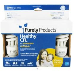 Purely Products Healthy CFL Air Purifier Twist LIGHTBULB 60 Watts Bright White