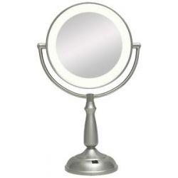Zadro Super Bright LED Lighted Vanity Mirror LEDVPR410 Satin Nickel