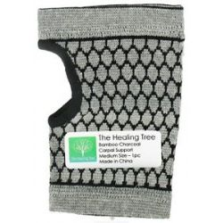 "The Healing Tree Bamboo Charcoal Carpal Support Medium Size 4 1 4"" x 9 1 8"" X"