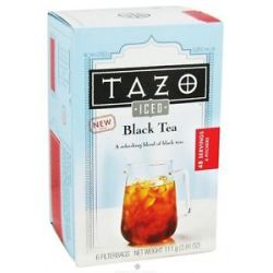 Tazo Iced Black Tea 6 Tea Bags