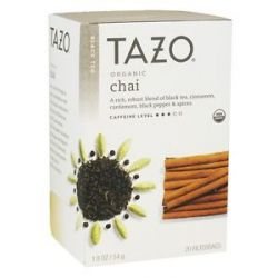 Tazo Black Tea Organic Chai 20 Tea Bags
