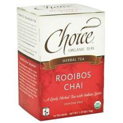 Choice Organic Teas Rooibos Chai Tea 16 Tea Bags