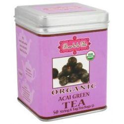 Brew La La Organic Green Tea Acai 50 Tea Bags