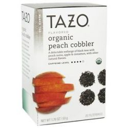 Tazo Black Tea Organic Peach Cobbler 20 Bags
