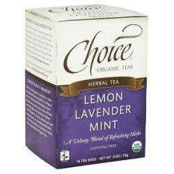 Choice Organic Teas Lemon Lavender Mint Tea 16 Tea Bags