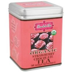 Brew La La Organic Tea Strawberry Chocolate 50 Tea Bags