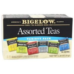 Bigelow Tea Six Assorted Teas Variety Pack 18 Tea Bags