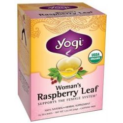 Yogi Tea Woman's Organic Raspberry Leaf Tea 16 Tea Bags
