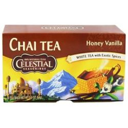 Celestial Seasonings Honey Vanilla White Chai 20 Tea Bags