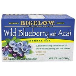 Bigelow Tea Herb Tea Wild Blueberry with Acai 20 Tea Bags