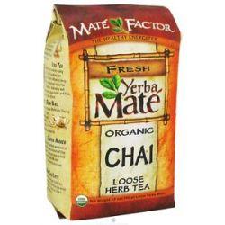 Mate Factor Organic Yerba Mate Loose Herb Tea Chai 12 Oz