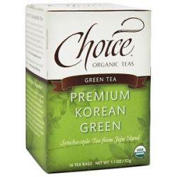 Choice Organic Teas Premium Korean Green Tea 16 Tea Bags