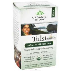 Organic India Tulsi Tea Jasmine Green Tea 18 Tea Bags