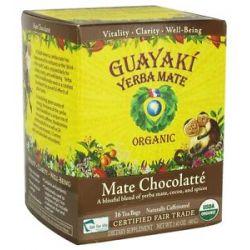 Guayaki Yerba Mate Chocolatte 100 Organic 16 Tea Bags