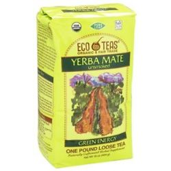 Eco Teas Organic Yerba Mate UNSMOKED Loose Tea 16 Oz