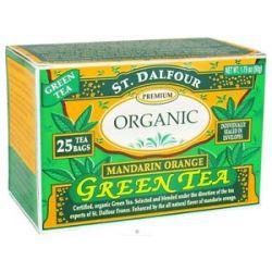 St Dalfour Green Tea Premium Organic Mandarin Orange 25 Tea Bags