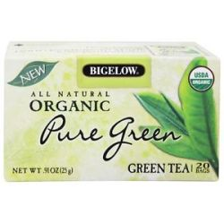 Bigelow Tea All Natural Organic Green Tea Pure Green 20 Tea Bags