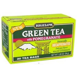 Bigelow Tea Green Tea Decaffeinated with Pomegranate 20 Tea Bags