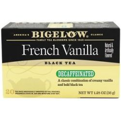 Bigelow Tea Black Tea Decaffeinated French Vanilla 20 Tea Bags