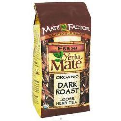 Mate Factor Organic Yerba Mate Loose Herb Tea Dark Roast 12 Oz