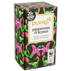 Pukka Herbs Organic Herbal Tea Peppermint Licorice 20 Tea Bags