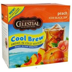 Celestial Seasonings Cool Brew Peach Iced Black Tea 40 Tea Bags