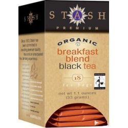 Stash Tea Premium Organic Breakfast Blend Black Tea 18 Tea Bags