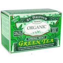 St Dalfour Green Tea Premium Organic Spring Mint 25 Tea Bags