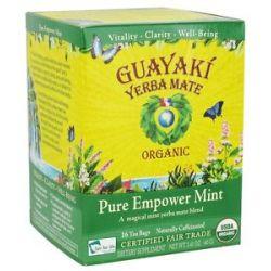 Guayaki Yerba Mate Pure Empower Mint 100 Organic 16 Tea Bags