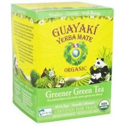 Guayaki Yerba Mate Greener Green Tea 100 Organic 16 Tea Bags