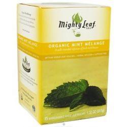 Mighty Leaf Herbal Infusion Organic Mint Melange 15 Tea Bags