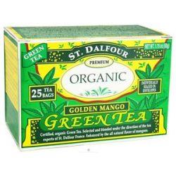 St Dalfour Green Tea Premium Organic Golden Mango 25 Tea Bags