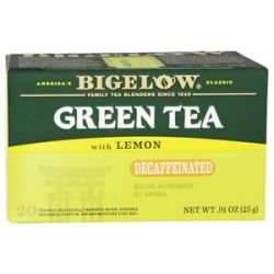 Bigelow Tea Green Tea Decaffeinated with Lemon 20 Tea Bags