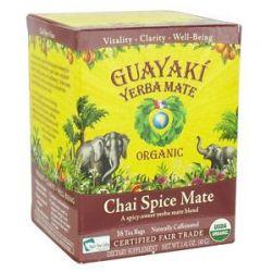Guayaki Yerba Mate Chai Spice Mate 100 Organic 16 Tea Bags