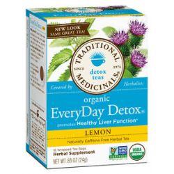 Traditional Medicinals Lemon Everyday Detox Tea 16 Tea Bags