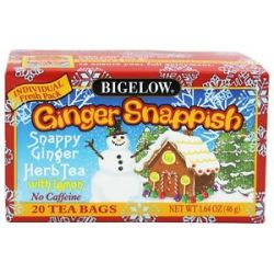 Bigelow Tea Herb Tea Ginger Snappish with Lemon 20 Tea Bags