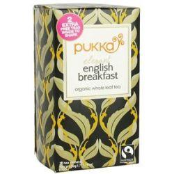 Pukka Herbs Organic Whole Leaf Tea Elegant English Breakfast 20 Tea Bags