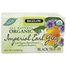 Bigelow Tea All Natural Organic Black Tea Imperial Earl Grey 20 Tea Bags