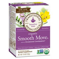 Traditional Medicinals Organic Smooth Move Tea Herbal Stimulant Laxative