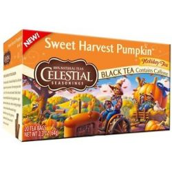 Celestial Seasonings Sweet Harvest Pumpkin Holiday Black Tea 20 Tea Bags