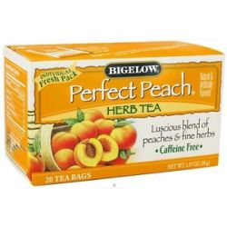 Bigelow Tea Herb Tea All Natural Caffeine Free Perfect Peach 20 Tea Bags