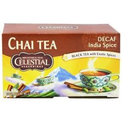 Celestial Seasonings Decaf Original India Spice Teahouse Chai 20 Tea Bags