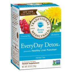 Traditional Medicinals - EveryDay Detox Tea - Promotes Healthy Liver Function -