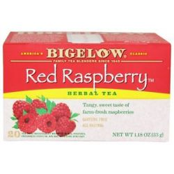 Bigelow Tea Herb Tea All Natural Caffeine Free Red Raspberry 20 Tea Bags