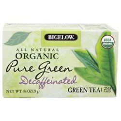 Bigelow Tea All Natural Organic Green Tea Decaffeinated Pure Green 20 Tea