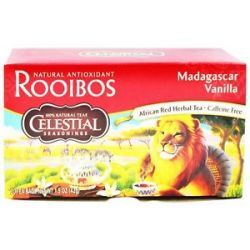 Celestial Seasonings Madagascar Vanilla Red Tea Caffeine Free 20 Tea Bags
