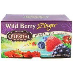 Celestial Seasonings Wild Berry Zinger Herb Tea Caffeine Free 20 Tea Bags