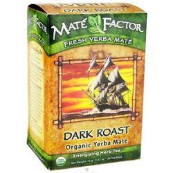 Mate Factor Organic Yerba Mate Energizing Herb Tea Dark Roast 20 Tea Bags