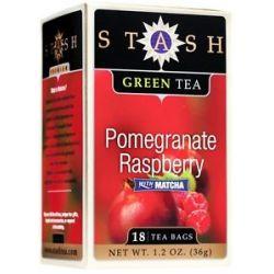 Stash Tea Premium Pomegranate Raspberry Green Tea with Matcha 18 Tea Bags