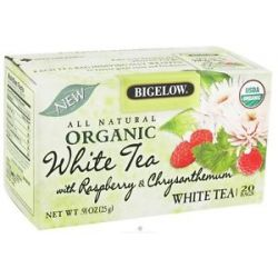Bigelow Tea All Natural Organic White Tea with Raspberry Chrysanthemum 20